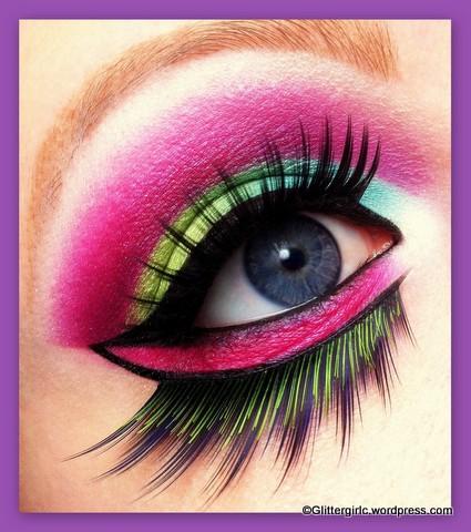Colourful Bird Lime Crime makeup look