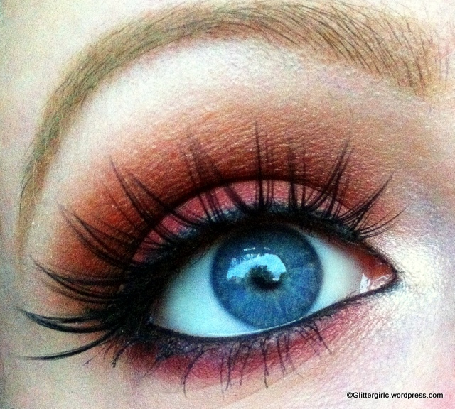 Reddish Bronze Makeup Geek look