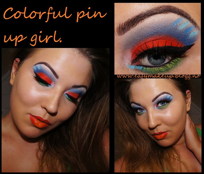 Colorful pin up girl