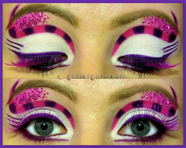 cheshire cat inspired makeup look 2 glittergirlc. Black Bedroom Furniture Sets. Home Design Ideas