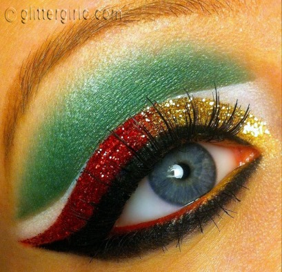 Christmas Makeup glitter