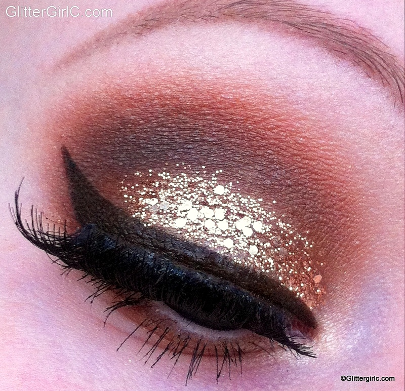Glittery Champagne New Years Eve Makeup Look Glittergirlc