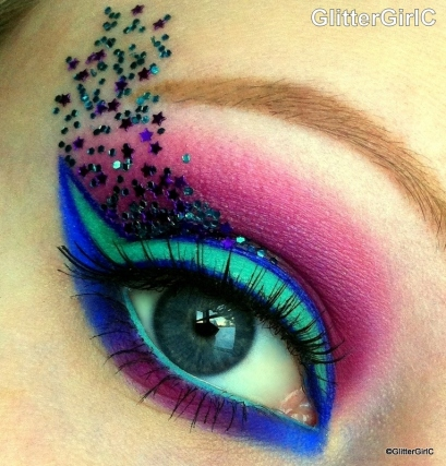 Fantasy makeup look inglot sugarpill
