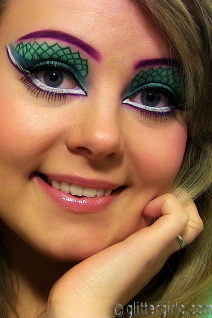 mermaid makeup full faced