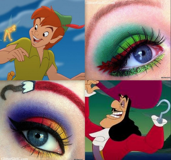 Collage Captain Hook Peter Pan Makeup