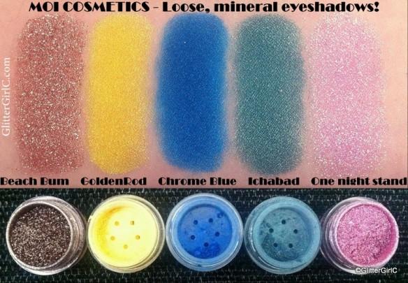 Moi cosmetics eyeshadows