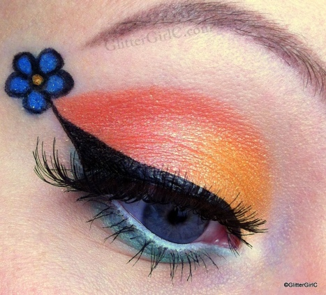 Spring flower makeup