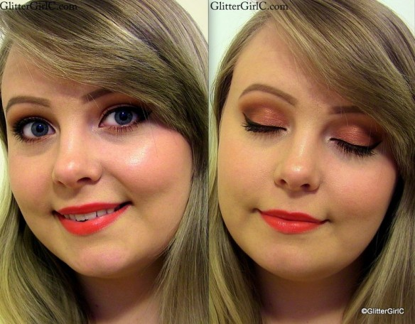 warm summer makeup look