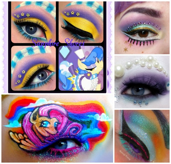 My Little Pony makeup looks