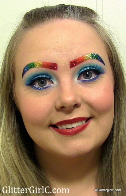 Rainbow Dash makeup look