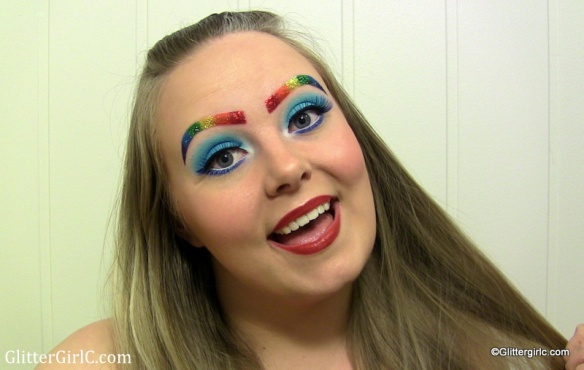 Rainbow Dash makeup