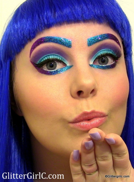 makeup katy perry glitter claw