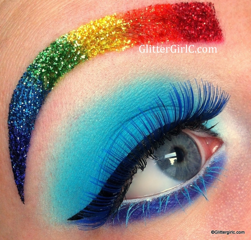 Rainbow Dash Makeup Look Glittergirlc