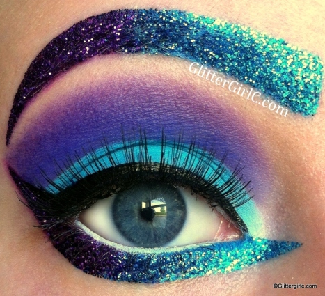 katy perry makeup glitter
