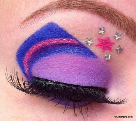 Twilight sparkle makeup