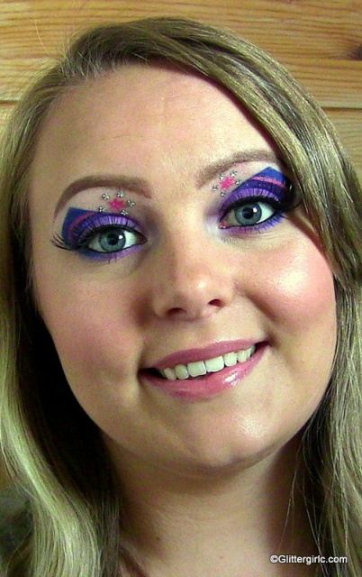 Twilight sparkle makeup look