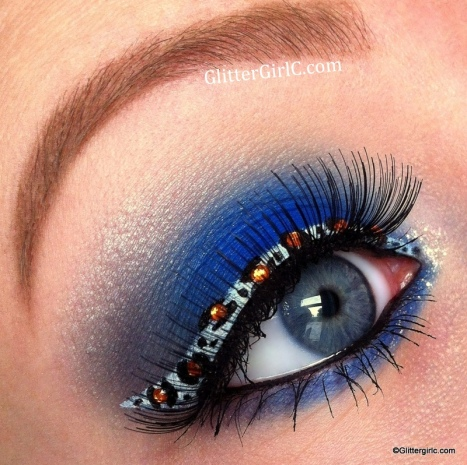 cheetah print liner makeup