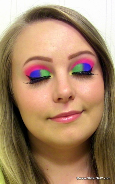 Sugarpill Electro Cute pigments makeup look