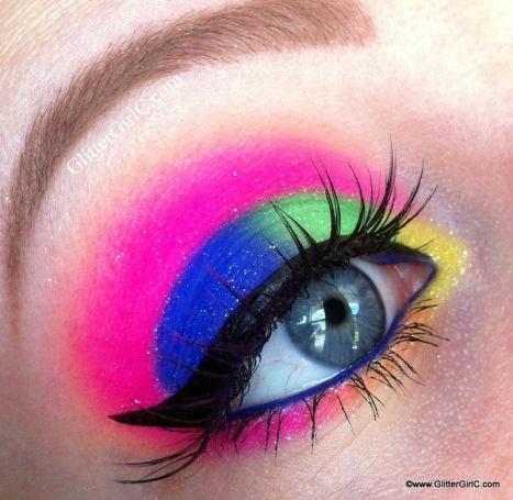 Sugarpill electro cute makeup look