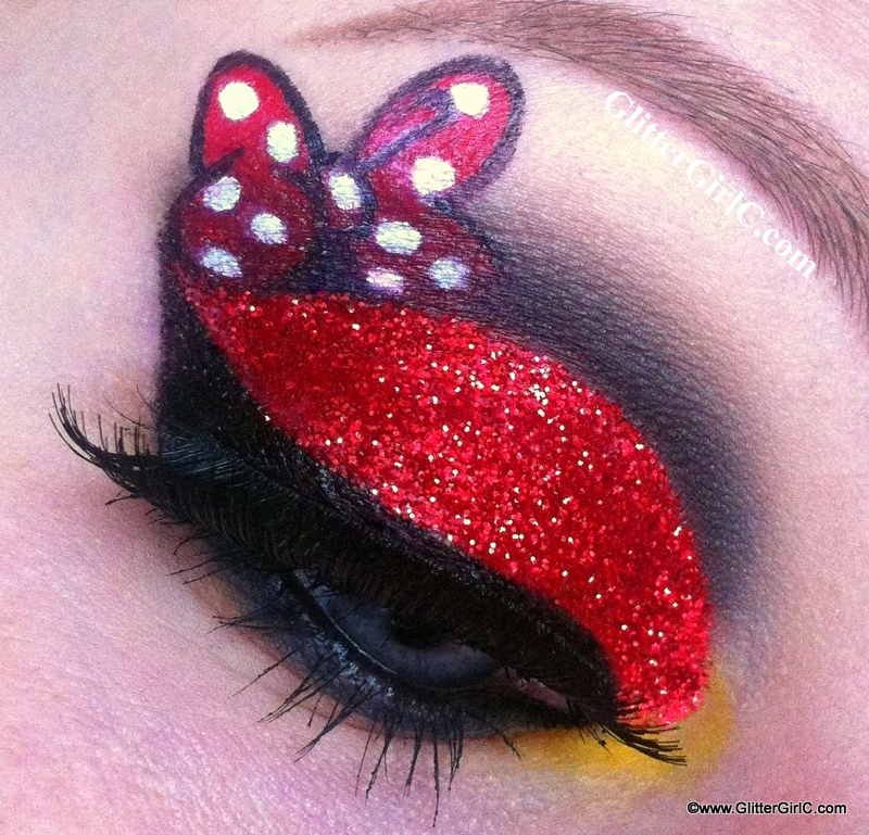 minnie mouse makeup  glittergirlc