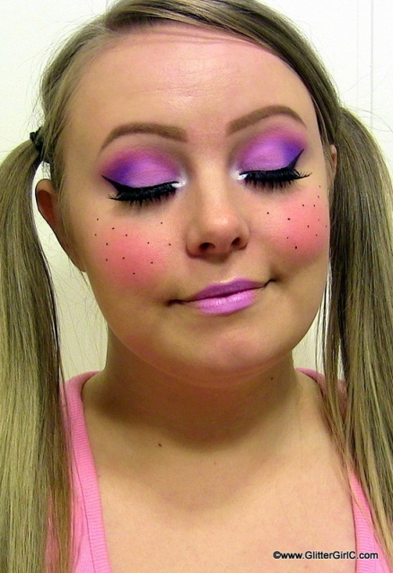 Cute Doll Makeup for Halloween