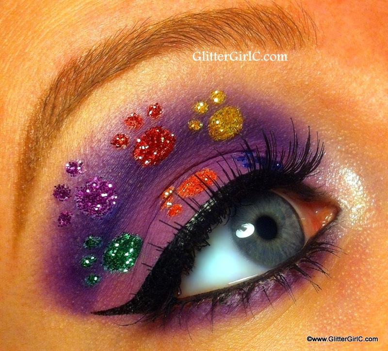 Dog Paws Makeup Glittergirlc