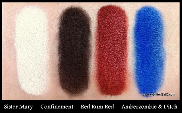 Lunatick cosmetic labs swatches 2