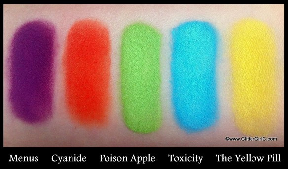Lunatick cosmetic labs swatches