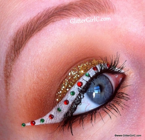 Gingerbread Christmas makeup