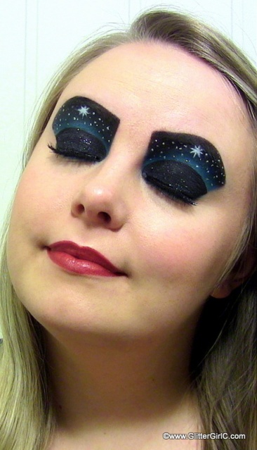 star christmas makeup