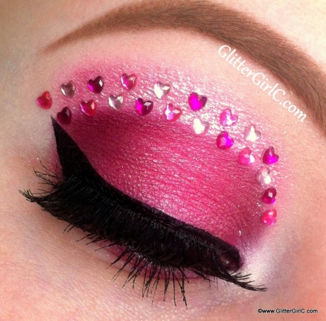 pink valentines day makeup