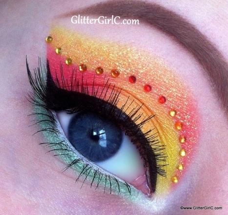 Spring makeup look