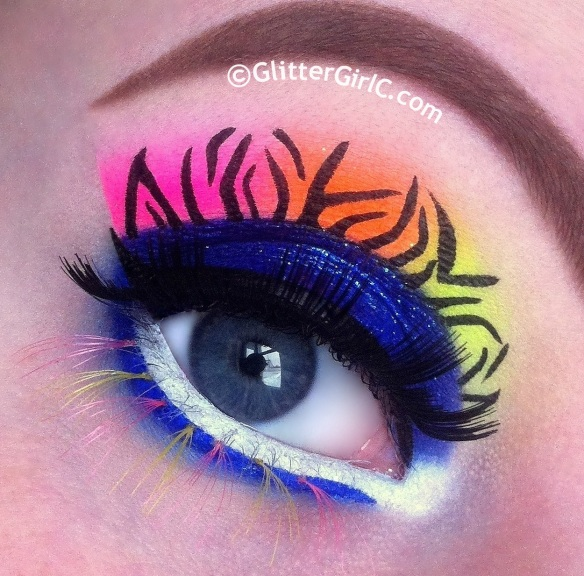 neon lunatick makeup look