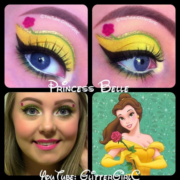 Disney princess belle makeup beauty and the beast