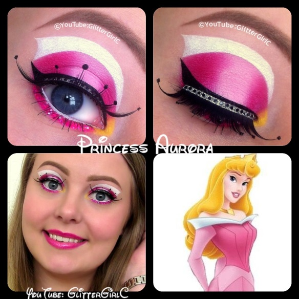 Princess Aurora makeup
