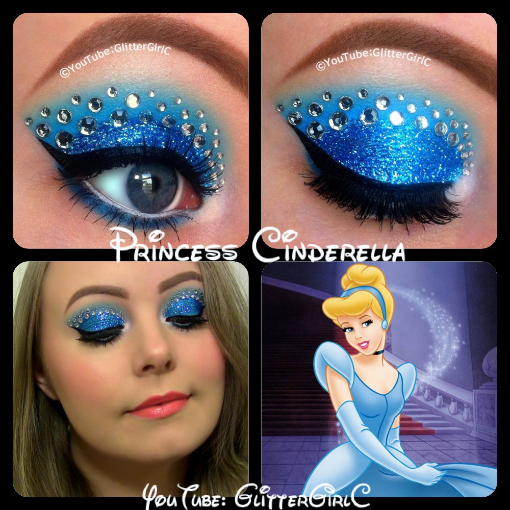 Glitter eye makeup designs