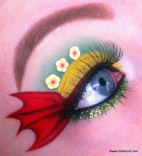 St. Davids day makeup look