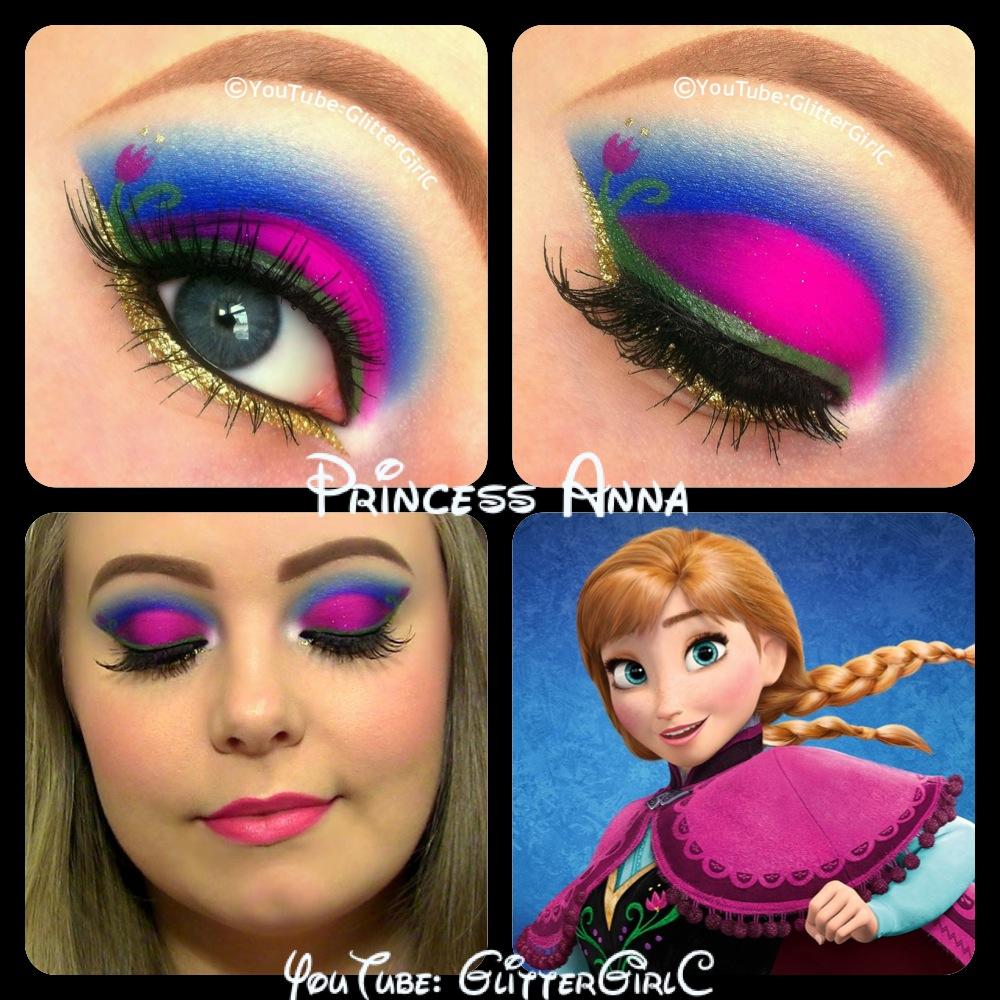 Disney princess anna makeup look glittergirlc baditri Image collections