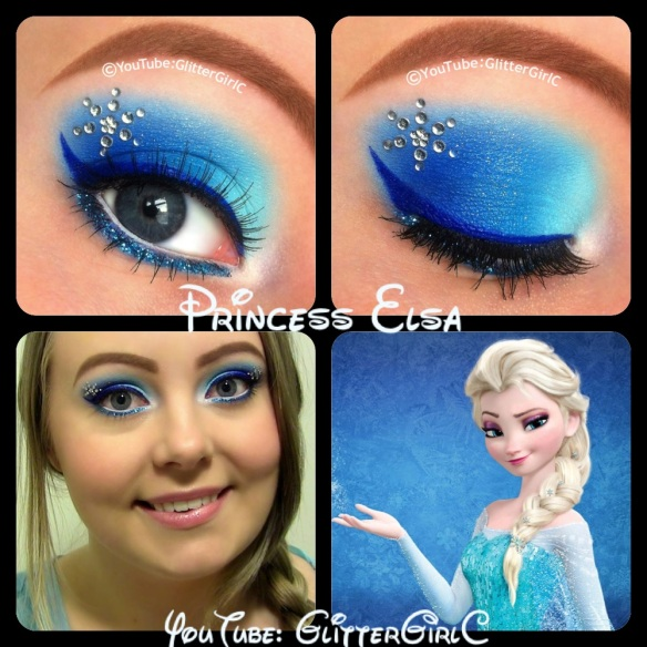 Disney Frozen Elsa Makeup Case: Frozen makeup set you can take anywhere you go - Complete with 2 makeup applicators, 2 molded sparkly rings, 1 sheet of gem stickers for extra shimmer and shine, and gorgeous makeup colors to applyReviews: 1.