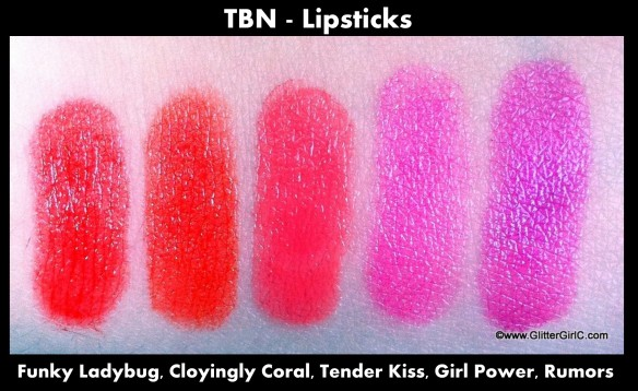 TBN lipsticks