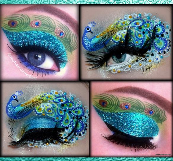 Peacock makeup looks