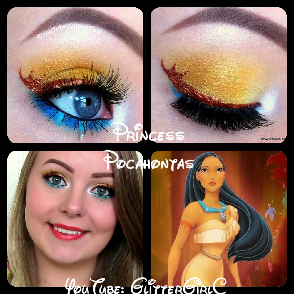 Princess Pocahontas Makeup :D
