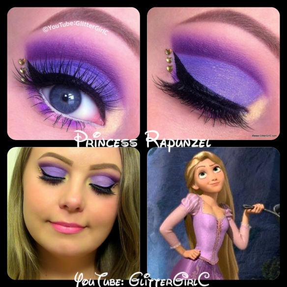 Disney Rapunzel makeup