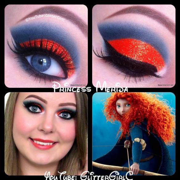 Brave Merida makeup