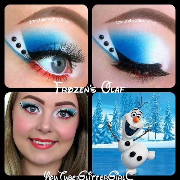 Frozen Olaf Makeup