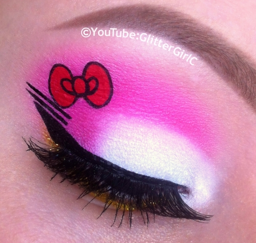 Hello Kitty makeup look
