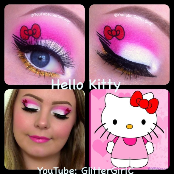 hello kitty makeup d glittergirlc
