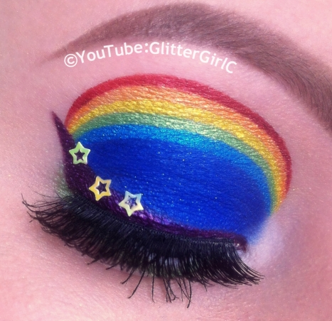 Rainbow Brite makeup