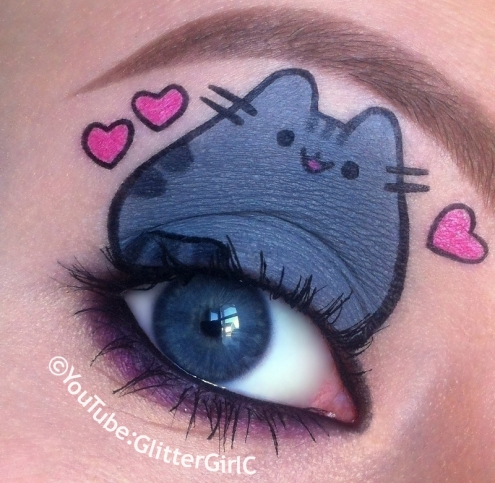 Pusheen the cat makeup