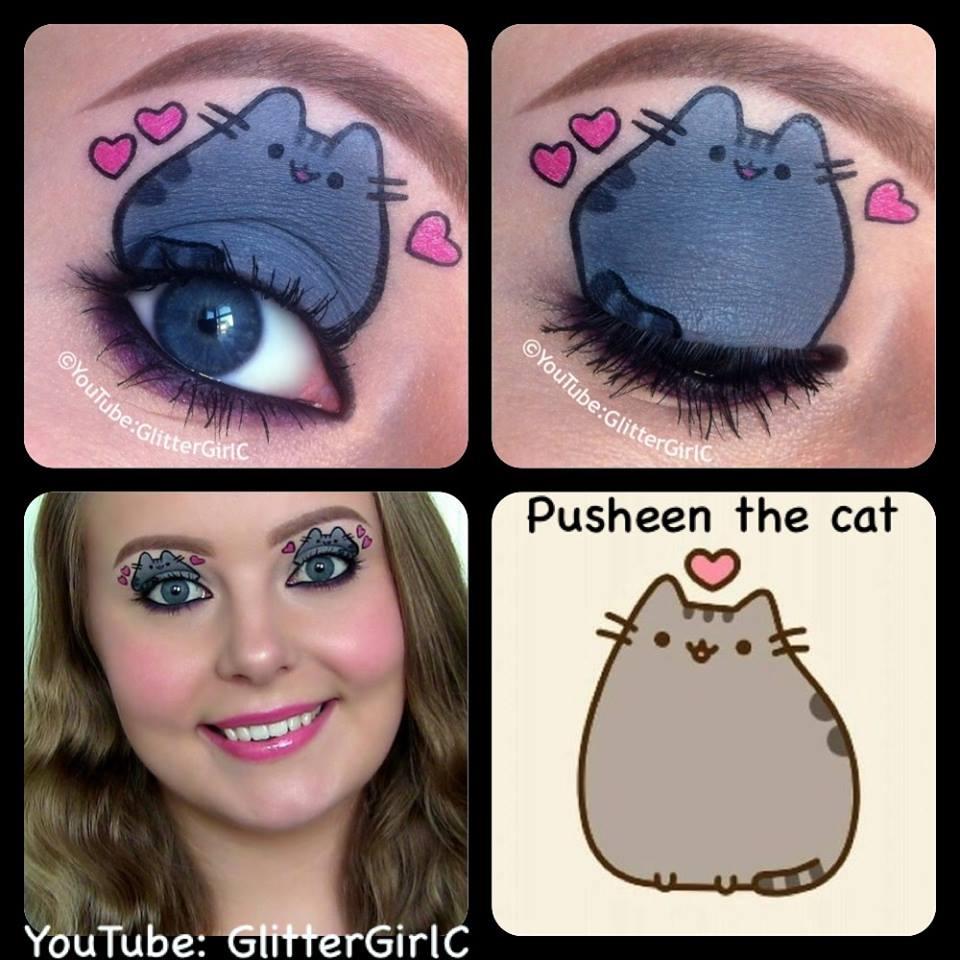 Makeup cat eyes